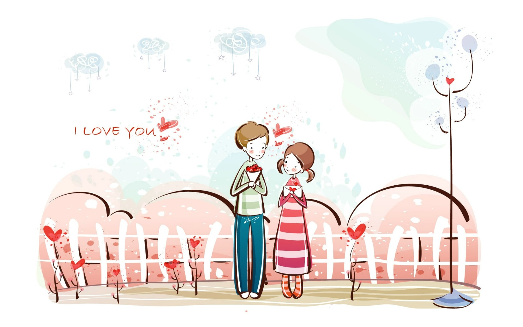 I Love Paris Wallpaper cartoon : ??1680x1050????????????,??????????????-????-??????-????