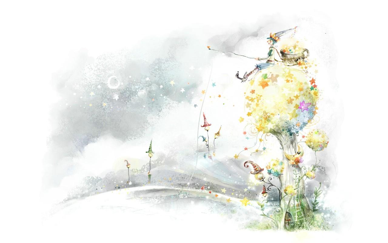 动漫桌面壁纸 系统3d高清风景11壁纸梦幻花朵壁纸