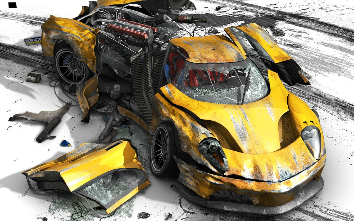 1440 900xbox360 xbox360 - Coloriage cars accident ...